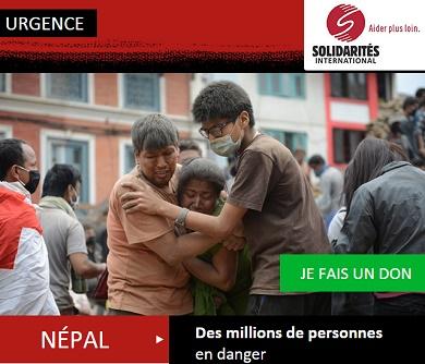 Soutenez Solidarités International pour intervenir au Népal !