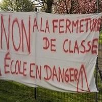 NON À LA FERMETURE DE CLASSE - ÉCOLE MATERNELLE LES TAMARIS